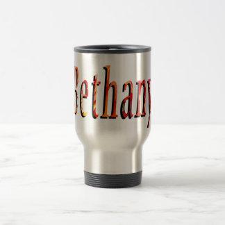 Bethanyの名前、ロゴ、旅行通勤者のコーヒー・マグ トラベルマグ