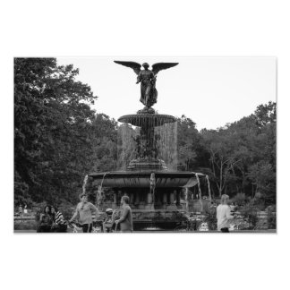 Bethesdaの噴水、セントラル・パークの写真 フォトプリント