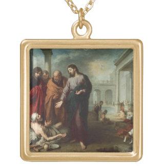Bethesda 1667-70年のプールのキリスト(カリフォルニアの油 ゴールドプレートネックレス