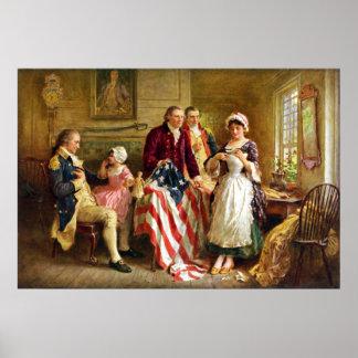 Betsy Rossおよび概要ジョージ・ワシントン ポスター