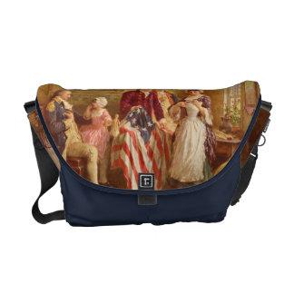 Betsy Rossの米国旗のメッセンジャーバッグ メッセンジャーバッグ