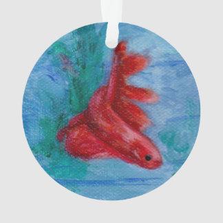 Bettaの少し赤い魚 オーナメント