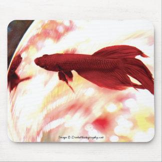 Bettaの赤い魚 マウスパッド