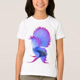 Bettaの青い魚は信号器のTシャツをからかいます Tシャツ