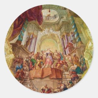 Beuggenの城教会ドイツの天井のフレスコ画 ラウンドシール