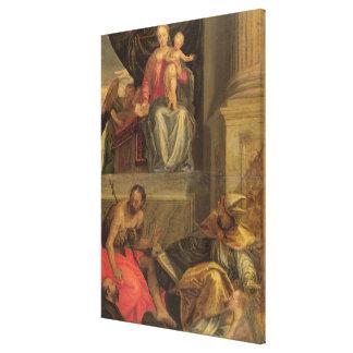 Bevilacquaの祭壇の背後の飾りのためのスケッチ キャンバスプリント