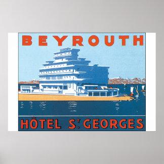Beyrouth St.ゲオルゲスのヴィンテージ旅行ポスター ポスター