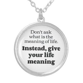 bfを意味する生命 シルバープレートネックレス
