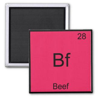 Bf -ビーフのおもしろいな要素化学記号のTシャツ マグネット