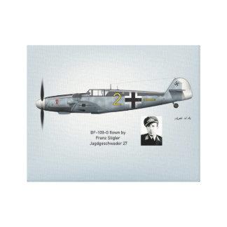 BF-109GフランツStiglerのプロフィール キャンバスプリント