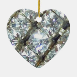 BFFのダイヤモンドのハートのオーナメント セラミックオーナメント