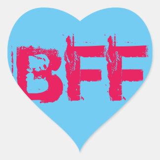 BFFのハートのステッカー ハートシール