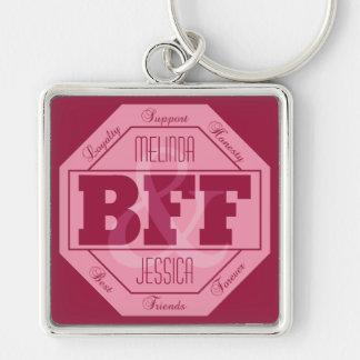 BFFの友情-名前をカスタムする-キーホルダー キーホルダー