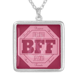 BFFの友情-名前をカスタムする-ネックレス シルバープレートネックレス