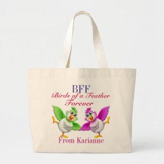 BFFの同類の戦闘状況表示板 ラージトートバッグ