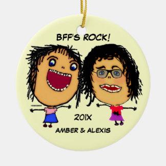 BFFの石の漫画 セラミックオーナメント