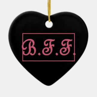 BFFの親友3Dのスタイルのピンクのレタリングのギフト項目 セラミックオーナメント