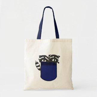 BG-小型のバッグのアライグマ トートバッグ