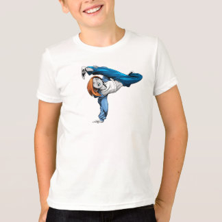 Bgirlの逆立ちの子供のティー Tシャツ