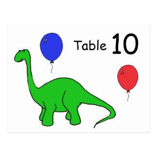 BH-おもしろいな恐竜のテーブル数郵便はがき ポストカード