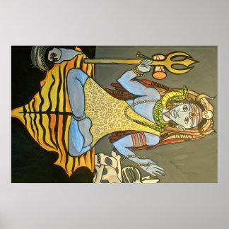 Bhairava Shivaポスタープリント ポスター