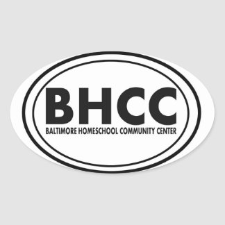 BHCCのステッカー 楕円形シール