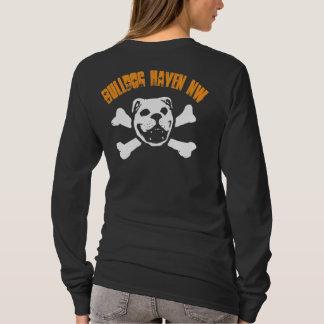 BHNW + ブルドッグのスカル(暗闇のためにオレンジ) Tシャツ