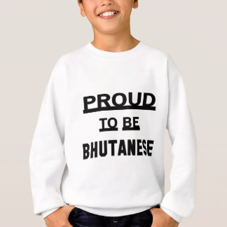 Bhutaneseがあること誇りを持った スウェットシャツ