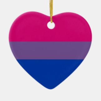 Biの旗は両性のプライドのために飛びます セラミックオーナメント