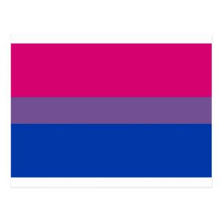 Biの旗は両性のプライドのために飛びます ポストカード