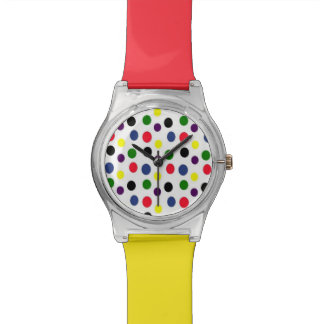 Bi色のおもしろいの水玉模様 腕時計