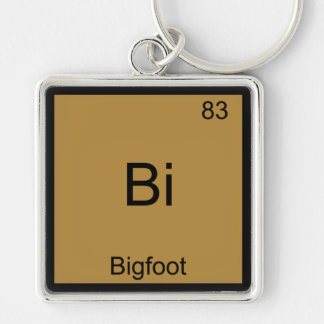 Bi -ビッグフットおもしろいな化学要素の記号のティー キーホルダー