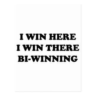 BI-WINNING! 私は、私そこに勝ちますここに勝ちます! ポストカード