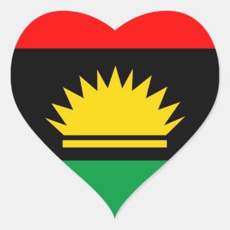 Biafra共和国の少数の人々の民族の旗 ハートシール