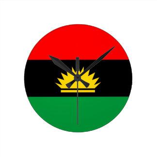 Biafra共和国の少数の人々の民族の旗 ラウンド壁時計