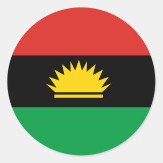 Biafra (Bịafra)の旗 ラウンドシール