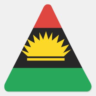 Biafra (Bịafra)の旗 三角形シール