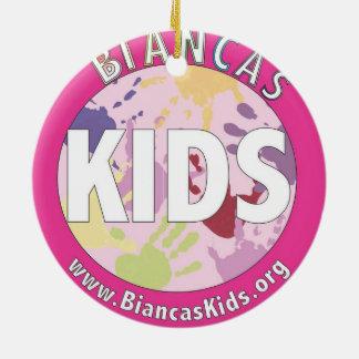 Biancaの子供の円のオーナメント セラミックオーナメント