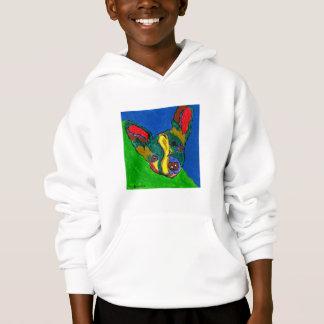 Biancaの犬の芸術のフード付きスウェットシャツ