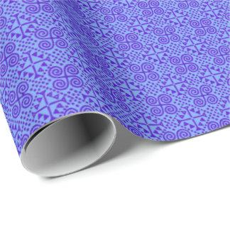 Biancaの紫色および青 ラッピングペーパー
