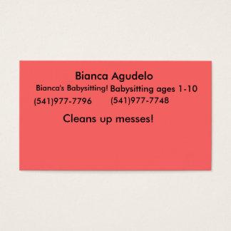 Bianca AgudeloのBiancaのベビーシッターをすること! 、(541) 977… 名刺