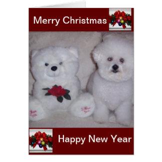Bichonのfriseのクリスマスカード カード