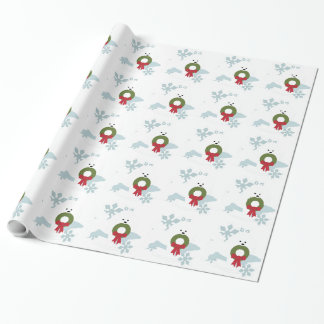 Bichon愛クリスマスの休日のスタイル ラッピングペーパー