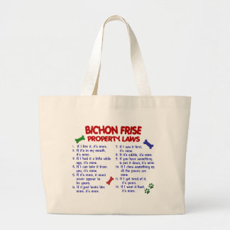 BICHON FRISEの特性の法律2 ラージトートバッグ