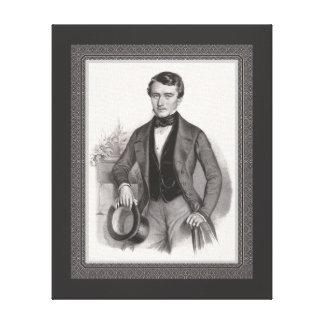 Biedermeierのハンサムな優雅に服を着せられた紳士 キャンバスプリント