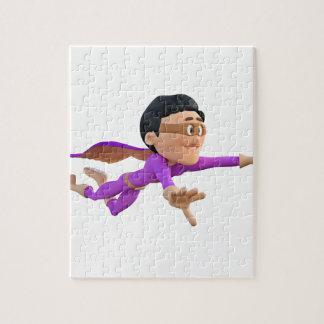 Biegeおよび紫色の極度のToonman ジグソーパズル