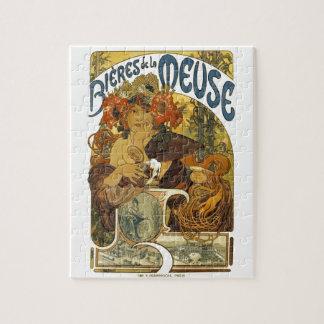 Bieres deのlaのムーズのヴィンテージフランスのなポスター芸術 ジグソーパズル