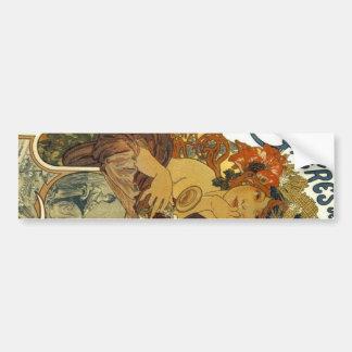 Bieres deのlaのムーズのヴィンテージフランスのなポスター芸術 バンパーステッカー