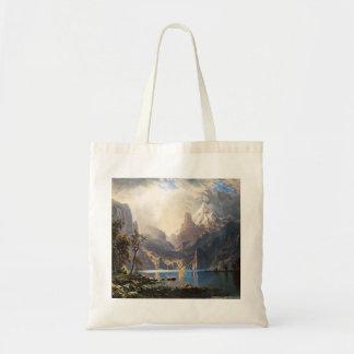 Bierstadtタホ湖のトートバック トートバッグ