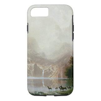 Bierstadt著シエラネバダ山脈山の中 iPhone 8/7ケース